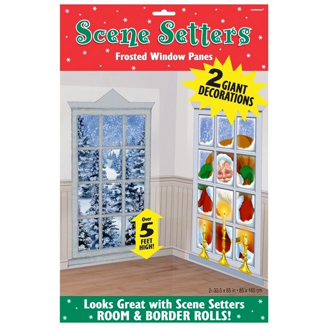 2 Wandbilder gefrorene Fenster Weihnachtsbilder