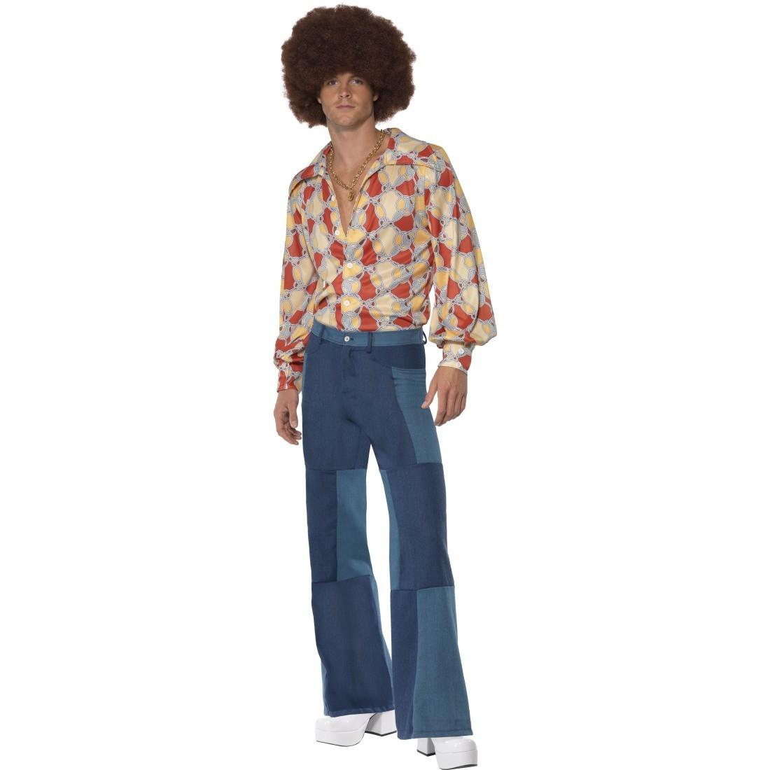 70er Jahre Hippiekostüm Hippie Kostüm Flower Power Outfit Hemd und ...