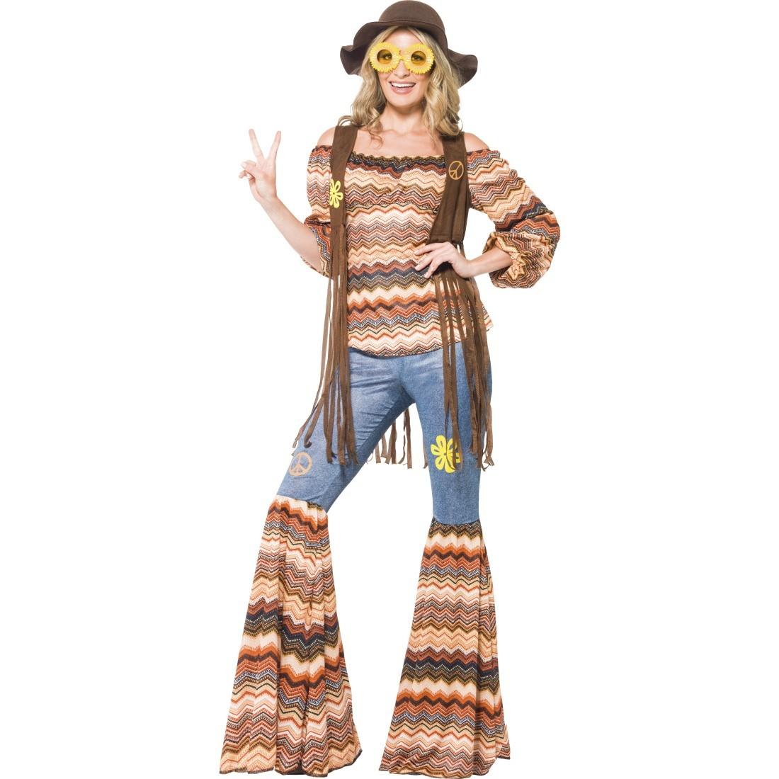 70er jahre outfit hippie kost m 60er jahre vintage hippiekost m flower power damenkost m. Black Bedroom Furniture Sets. Home Design Ideas