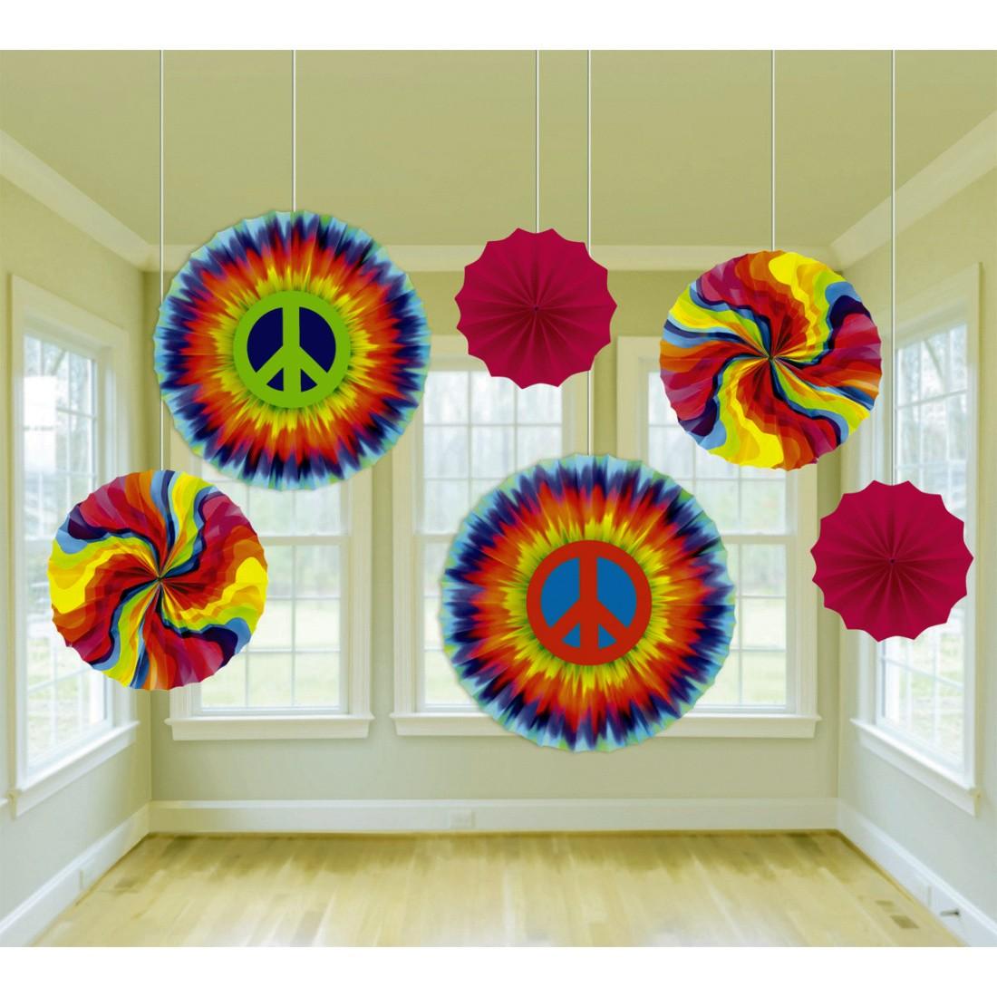70er jahre deko f cher hippie party h ngedeko 6 tlg 11 99. Black Bedroom Furniture Sets. Home Design Ideas