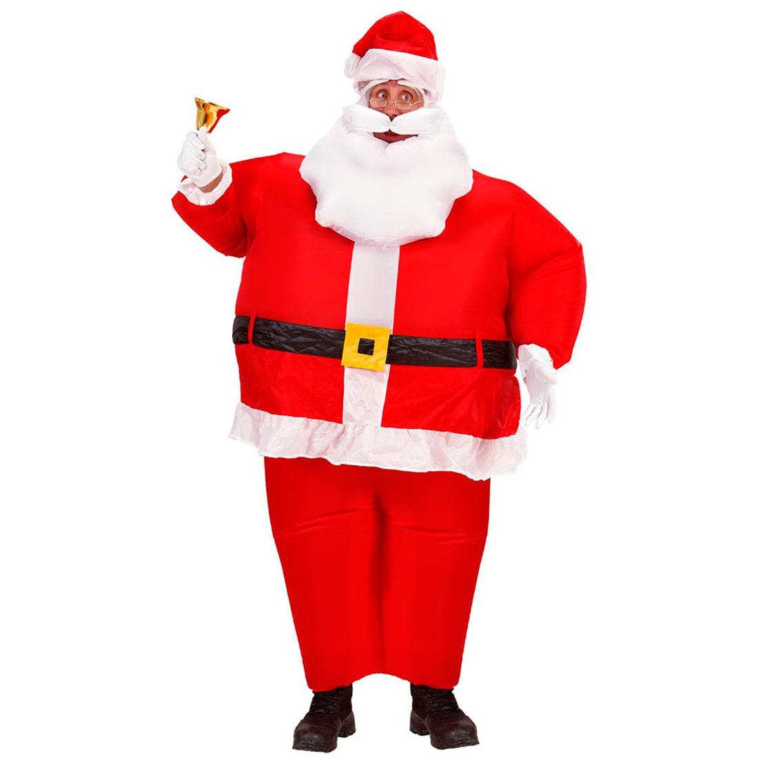 aufblasbares weihnachtsmann kost m nikolaus 43 49. Black Bedroom Furniture Sets. Home Design Ideas