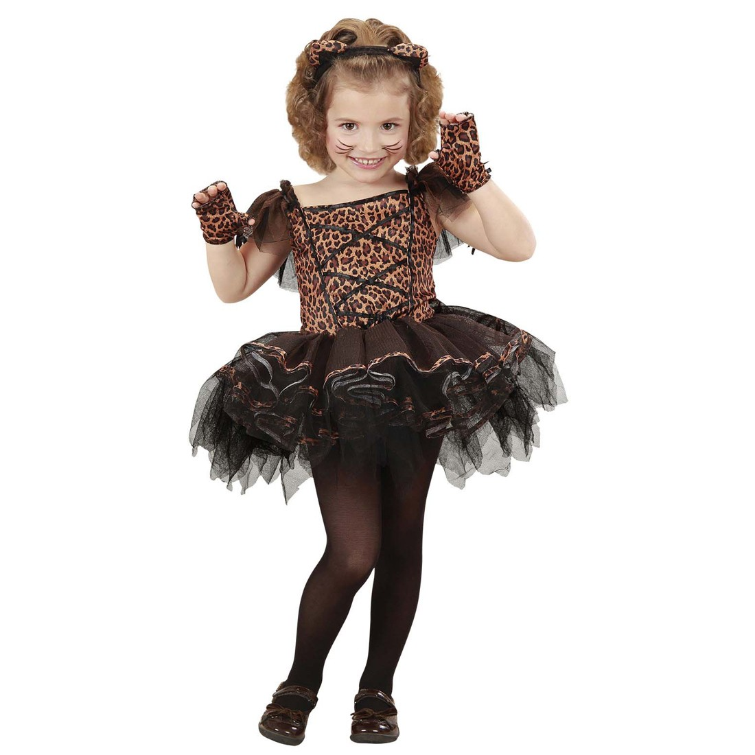 ballerina kost m leopard tutu katzenkost m kinder. Black Bedroom Furniture Sets. Home Design Ideas