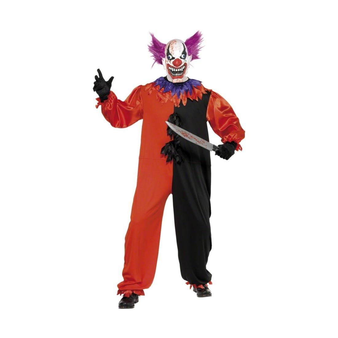 bobo clownkost m grusel clown kost m orange wei s 44 46 clownskost m horrorclown clown kost m. Black Bedroom Furniture Sets. Home Design Ideas