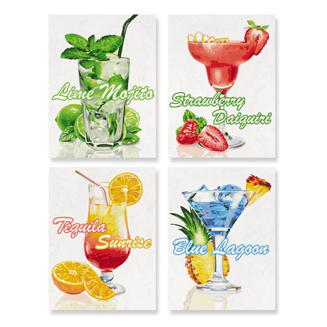 Cocktails Schipper 18x24 cm Malen nach Zahlen Quattro Malvorlage, 29 ...