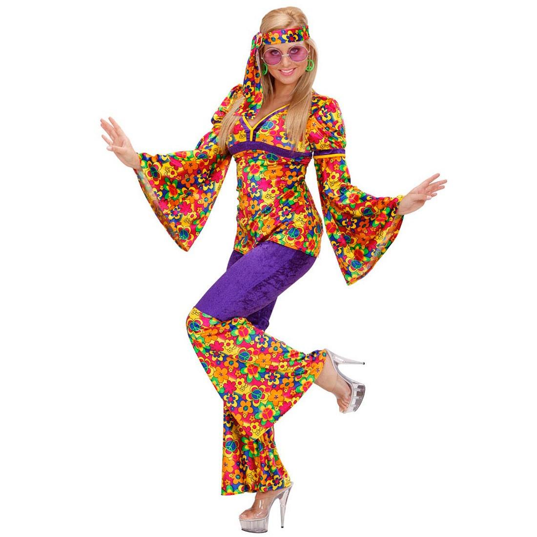 Damen Hippie Kostume Flower Power M 29 99