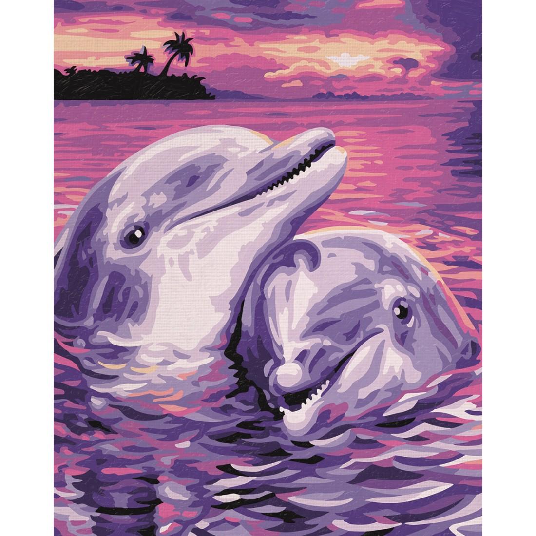 Delfine Malen nach Zahlen Schipper 24 x 30 cm Tiere Vorlagen ...