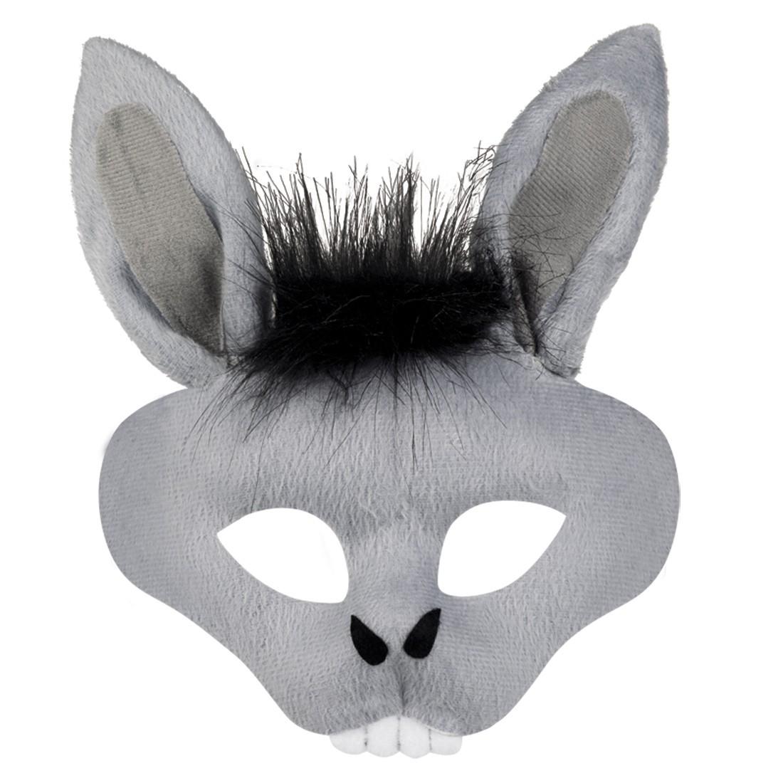 esel maske mit ohren tiermaske maultier 5 99. Black Bedroom Furniture Sets. Home Design Ideas