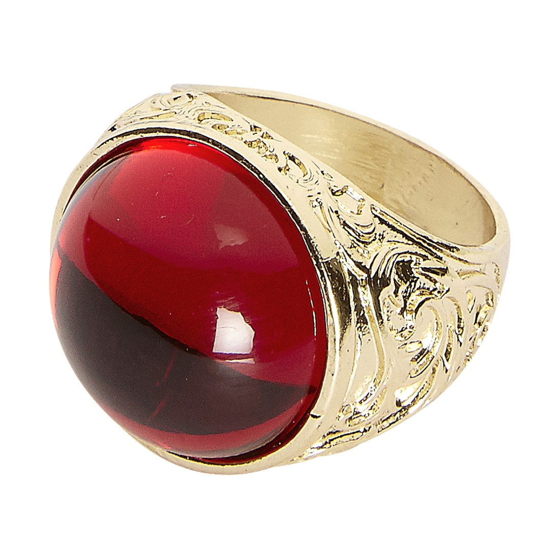 gothic ring mit rotem stein gold rot 5 49. Black Bedroom Furniture Sets. Home Design Ideas