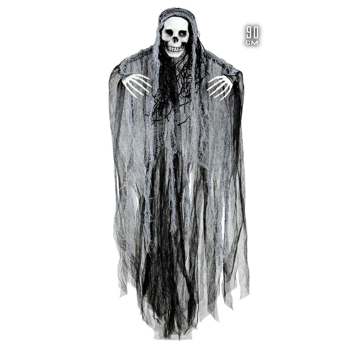 grim reaper deko halloween skelett zum aufh ngen 90 cm sensenmann deko h ngedekoration totenkopf. Black Bedroom Furniture Sets. Home Design Ideas