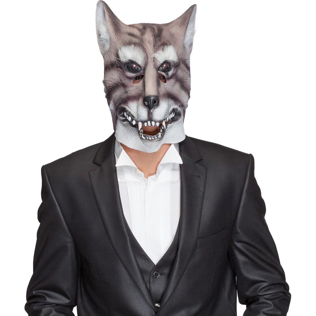 gummi maske wolf wolfsmaske wolfmaske tiermaske masken 15. Black Bedroom Furniture Sets. Home Design Ideas
