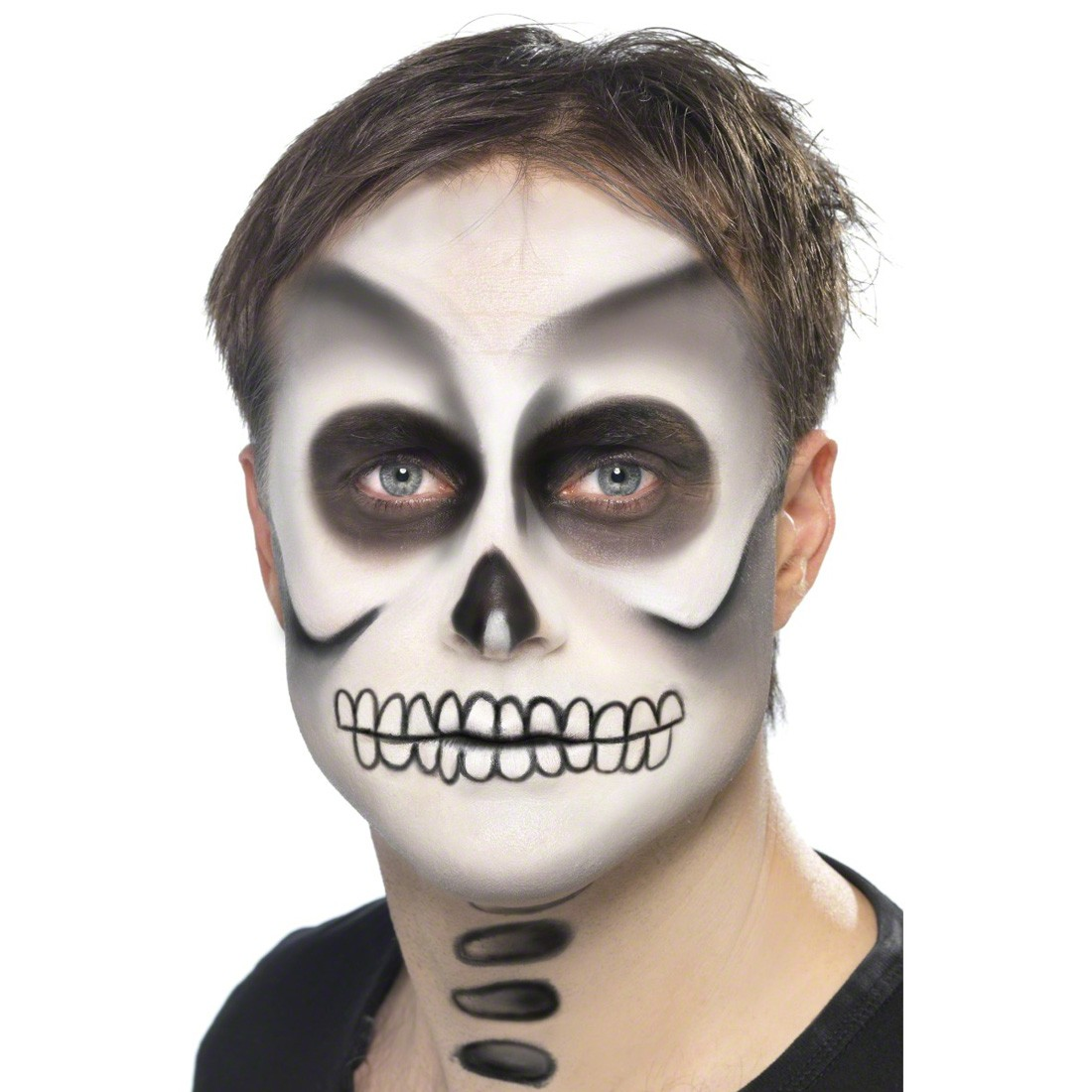 Skelett Make Up Halloweenschminke Skelettschminke Makeup Kostüm