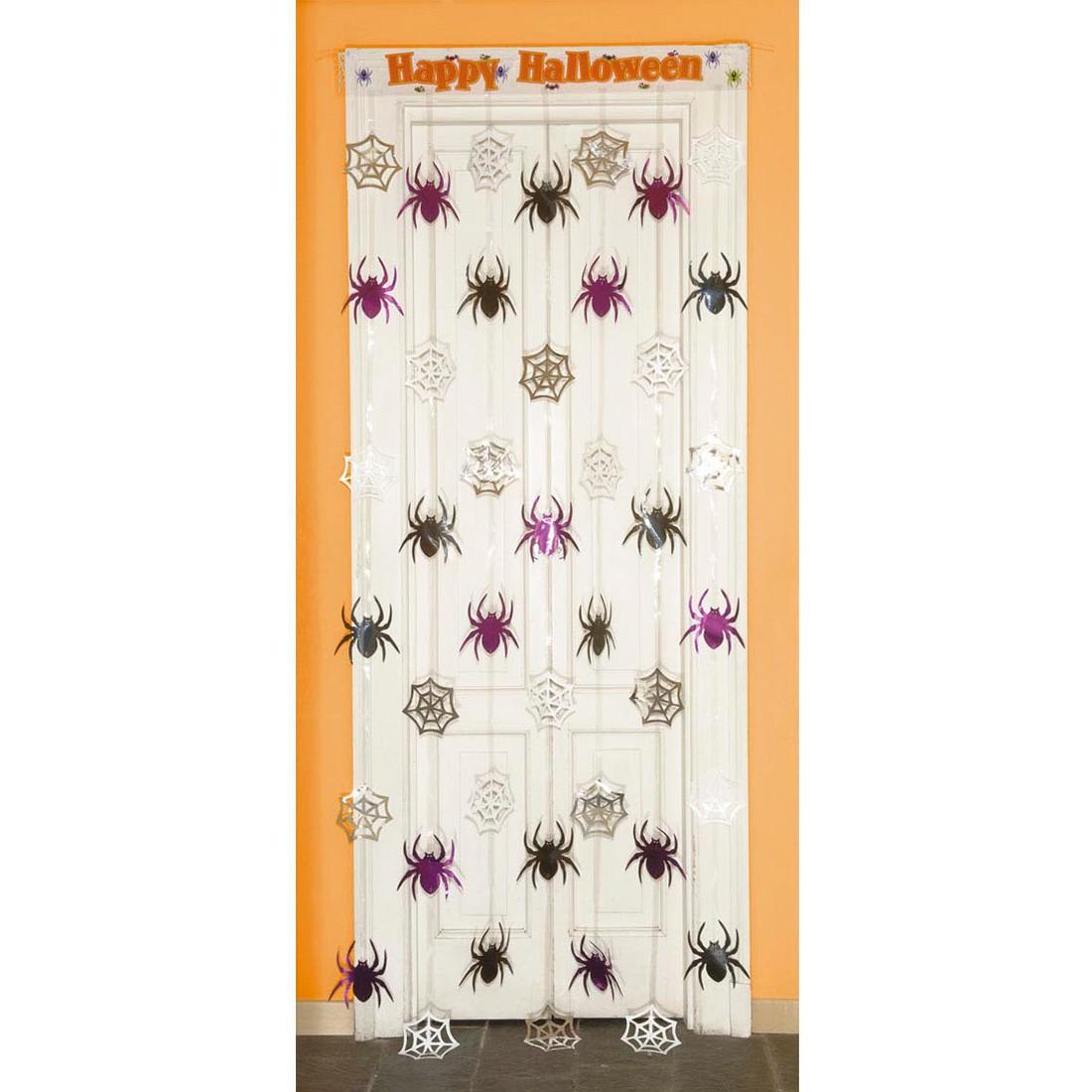 halloween deko t r vorhang spinnen 11 99. Black Bedroom Furniture Sets. Home Design Ideas