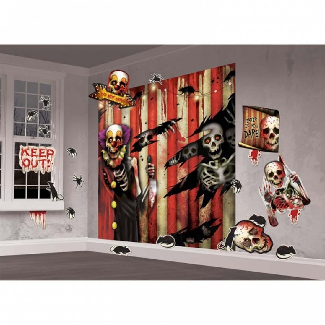 Halloween Wand Deko 32 Tlg. Horror Halloweendeko