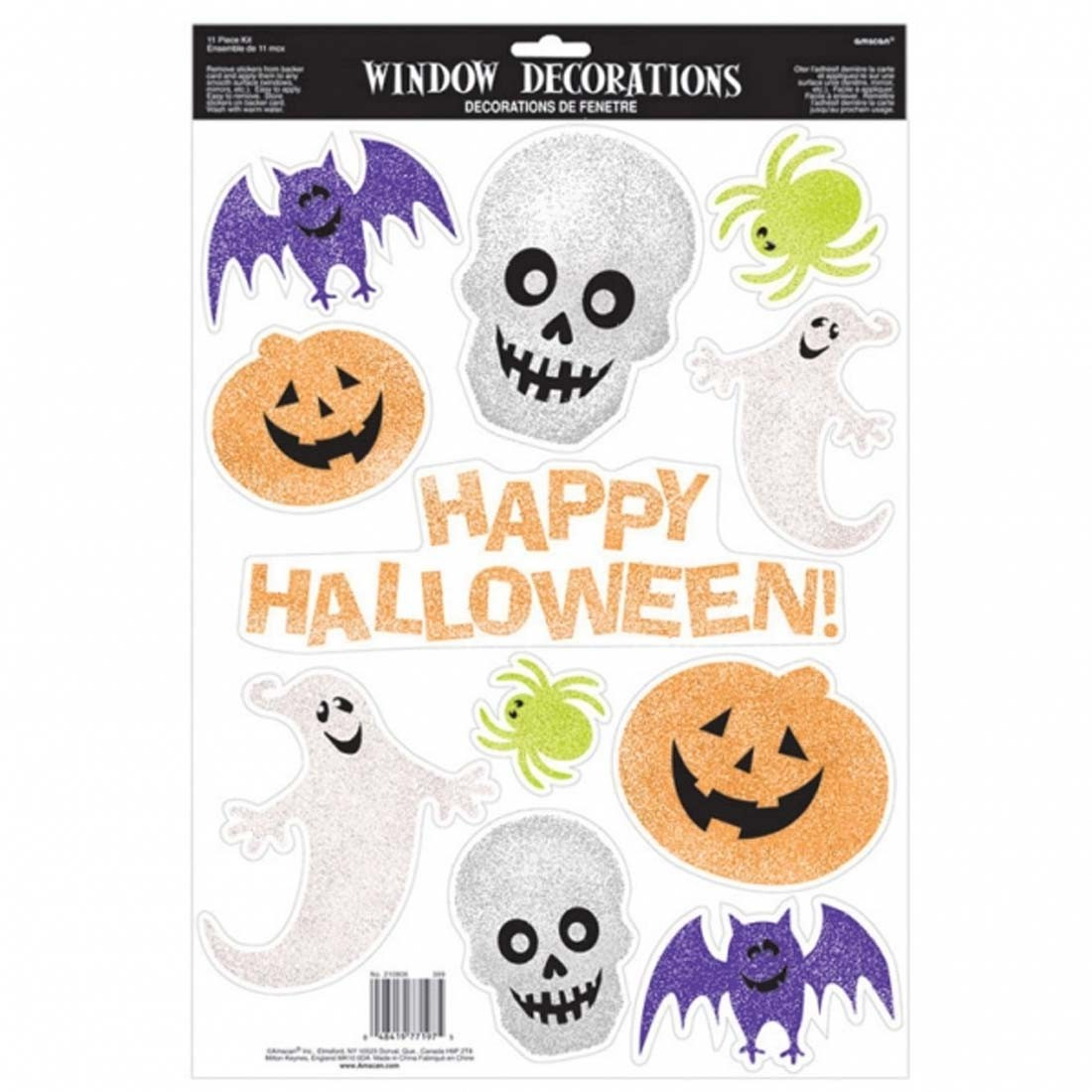 Happy halloween fensterdeko 45 7 x 30 5 cm kinder - Halloween fensterdeko ...