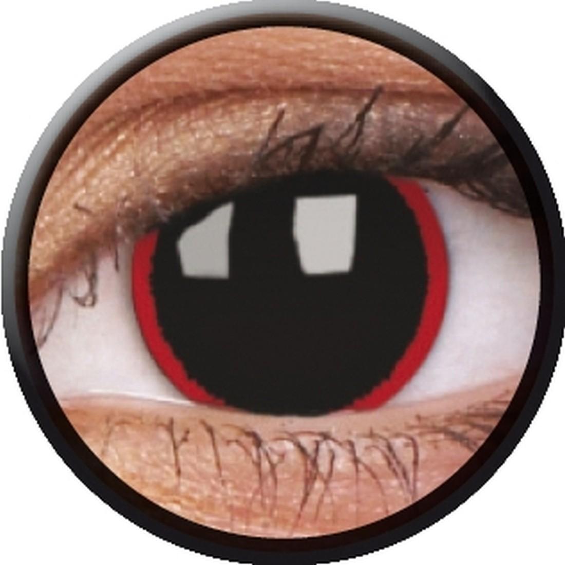 hell raiser kontaktlinsen schwarze farblinsen mit rotem. Black Bedroom Furniture Sets. Home Design Ideas