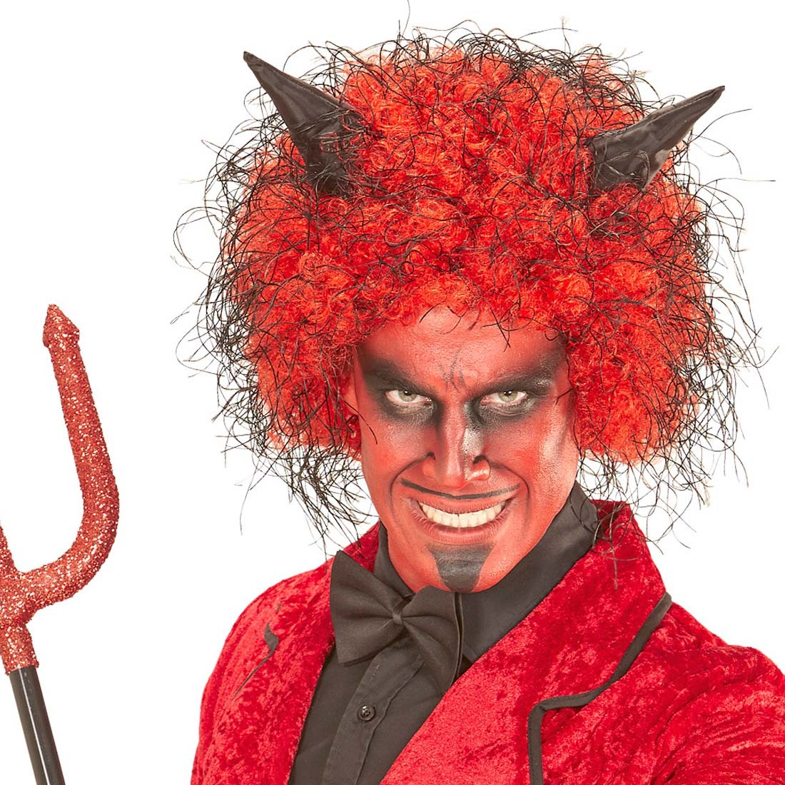 Halloween Perucke Lucifer Teufelin Teufel 8 99