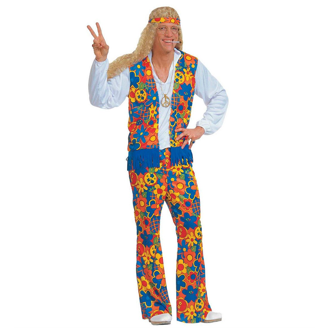 herren kost m hippie man gr xl kost me fasching 27 99. Black Bedroom Furniture Sets. Home Design Ideas