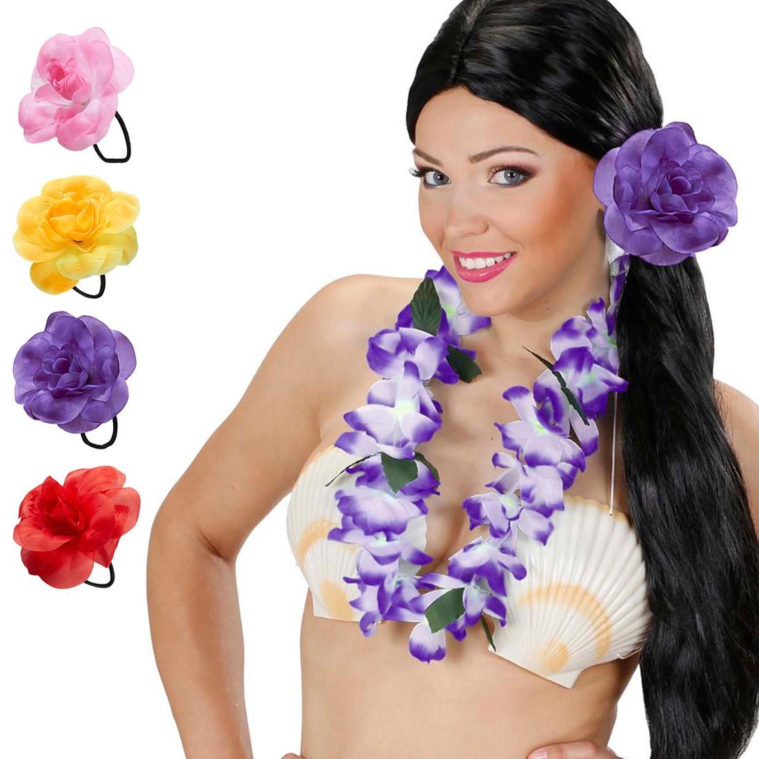 hibiskus blume haargummi hawaii haarschmuck hula zopfgummi 2 49. Black Bedroom Furniture Sets. Home Design Ideas