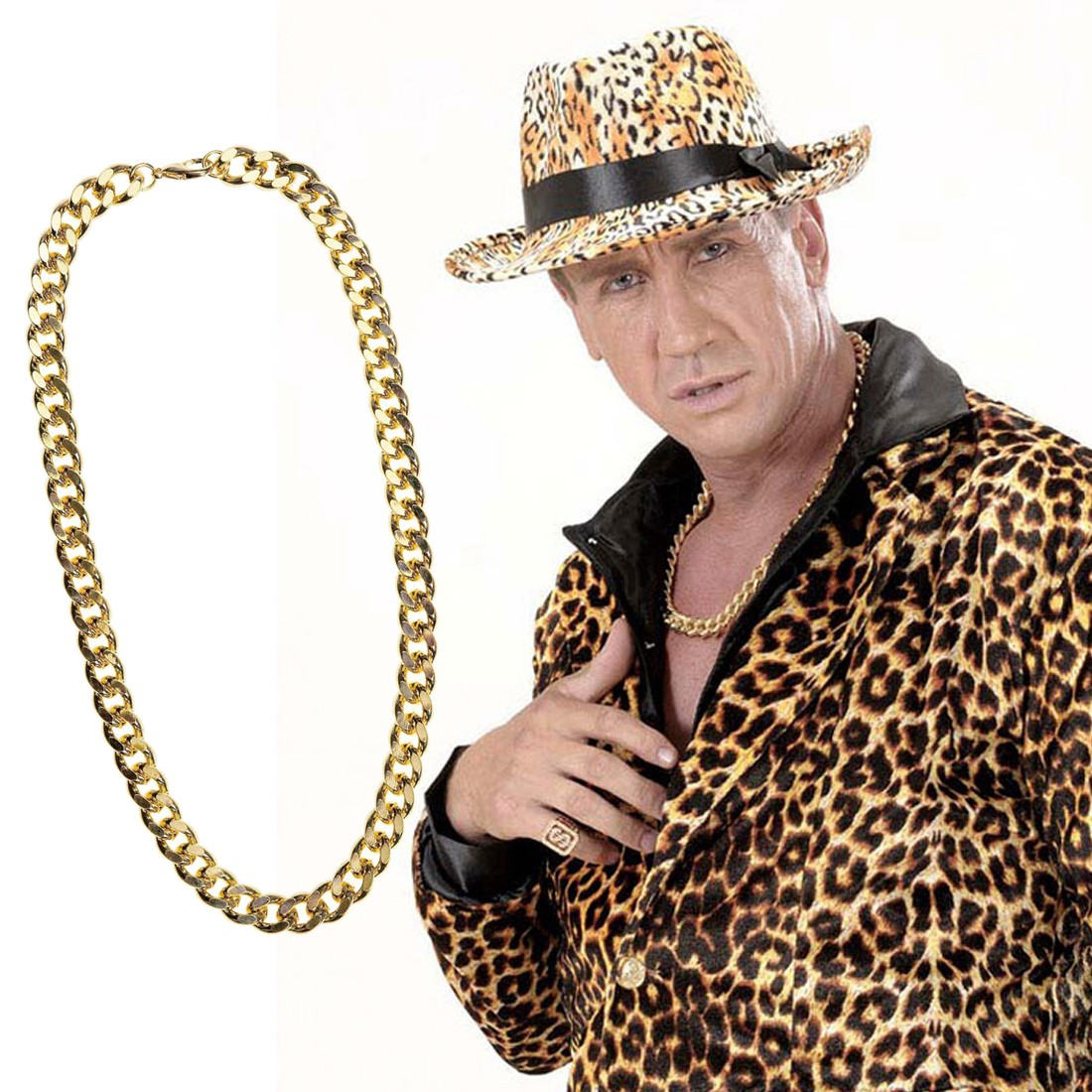 Goldkette gangster  Goldkette und Goldarmband Halskette Pokerarmband gold, 9,99 €
