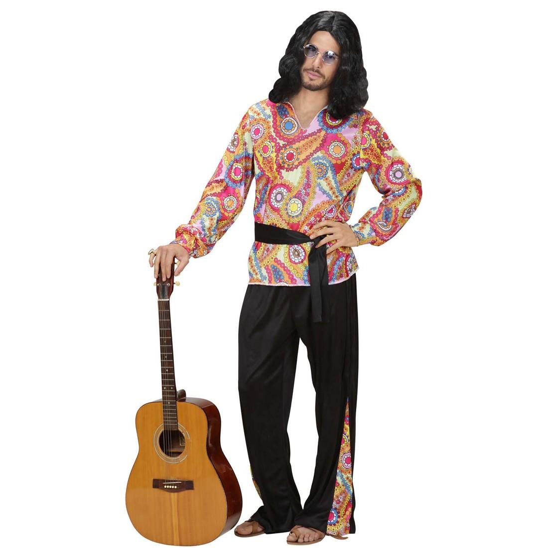 Hippie Outfit Herren 70er Jahre Kostum Hippiekostum Hemd Hose Gurtel