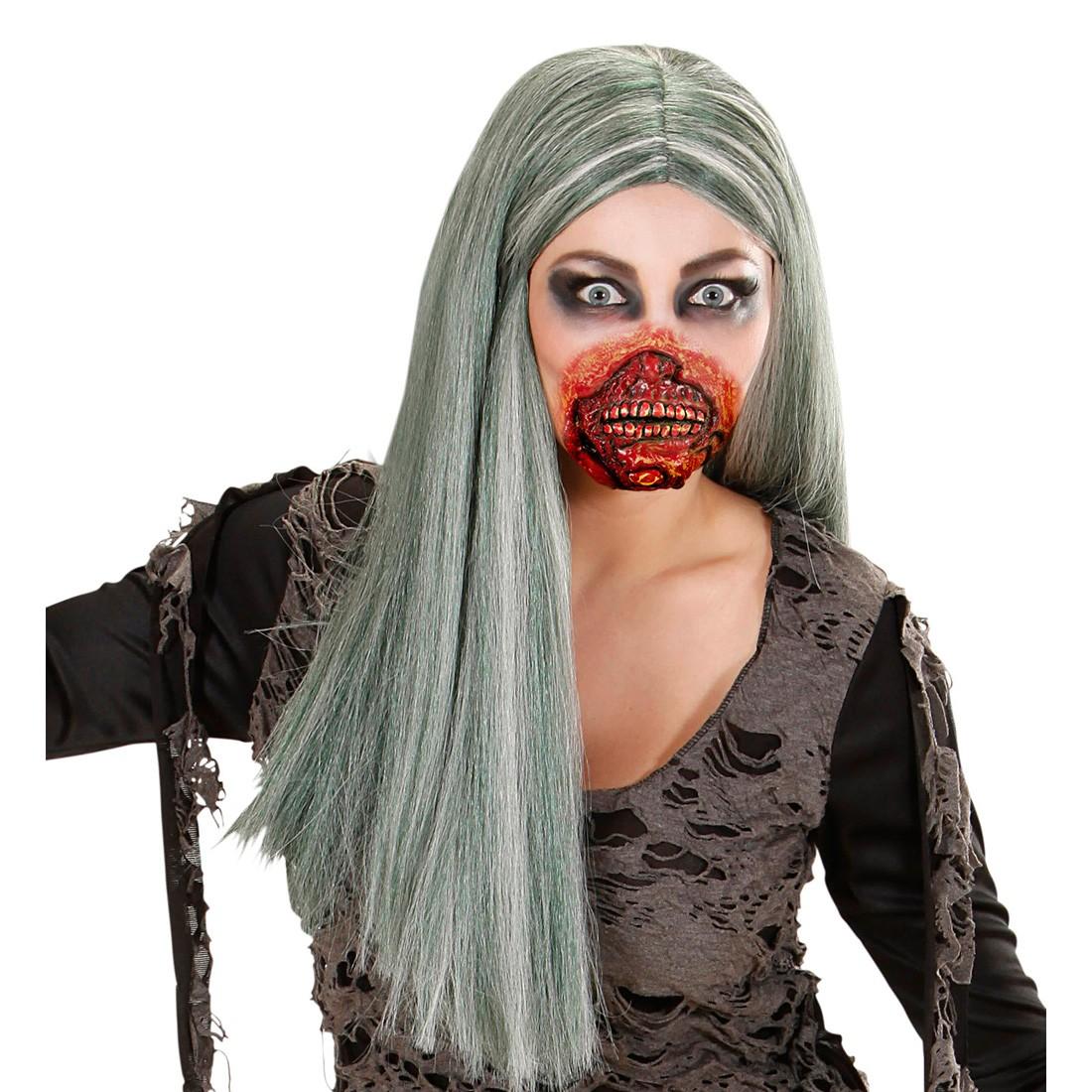 Horror Zombie Mund Halloween Maske Gesichtswunde Zombie Schminke