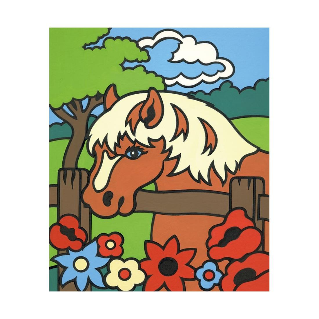 hund und pferd  malen nach zahlen mammut 849