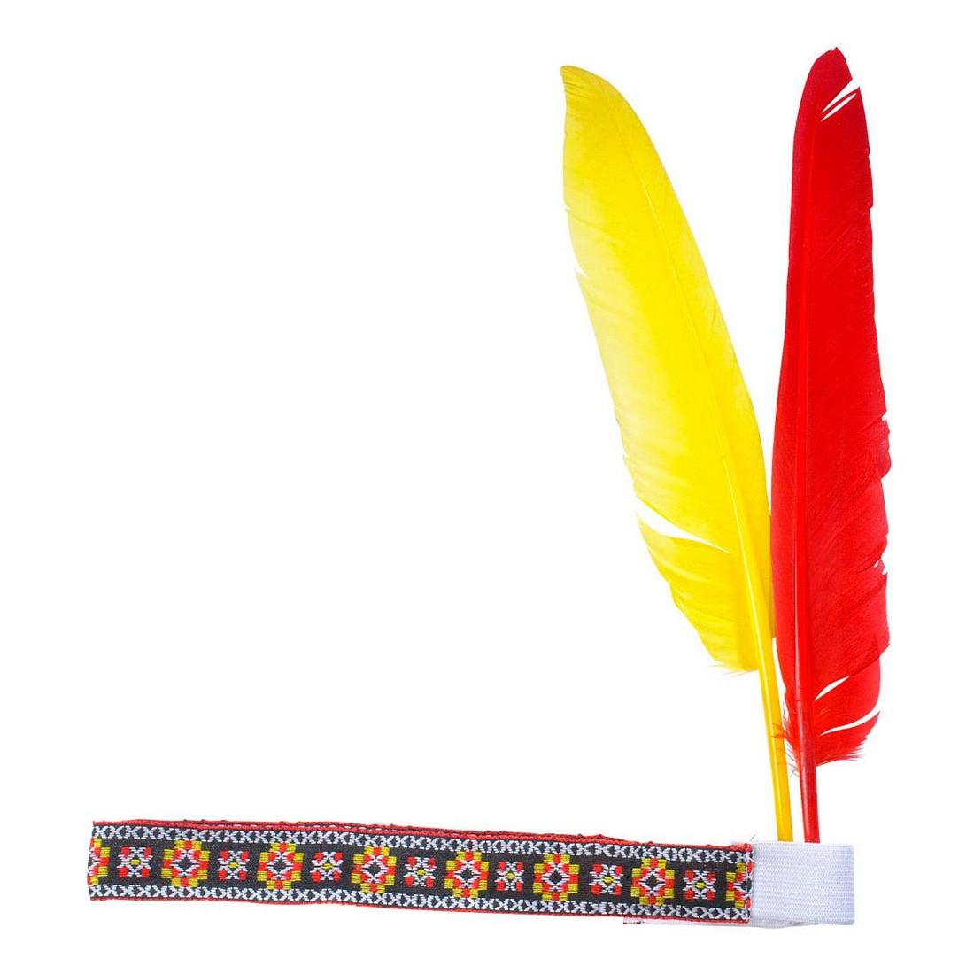 indianer haarband mit 2 federn 2 99. Black Bedroom Furniture Sets. Home Design Ideas
