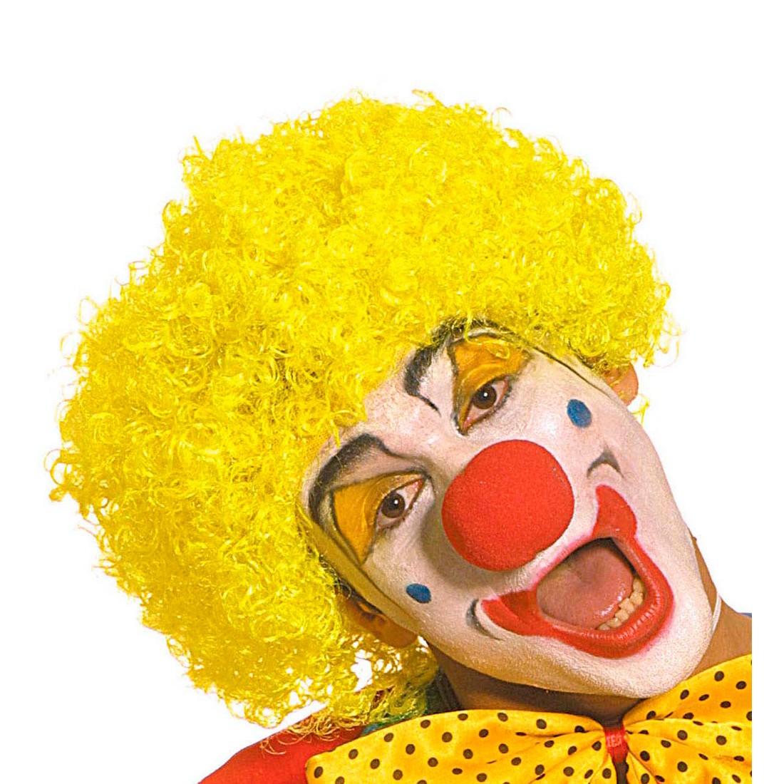 Karneval Clown Perucke Gelb Faschingsperucke 7 99