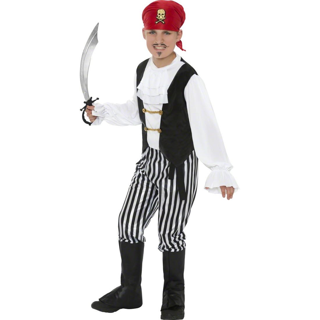 Kinder Kostum Pirat Piratenbekleidung Schwarz Weiss L 158 Cm