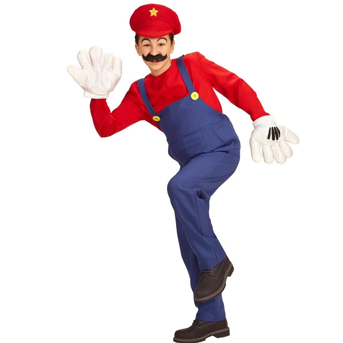 Kinder Super Mario Kostüm Faschingskostüm Klempner, 19,99
