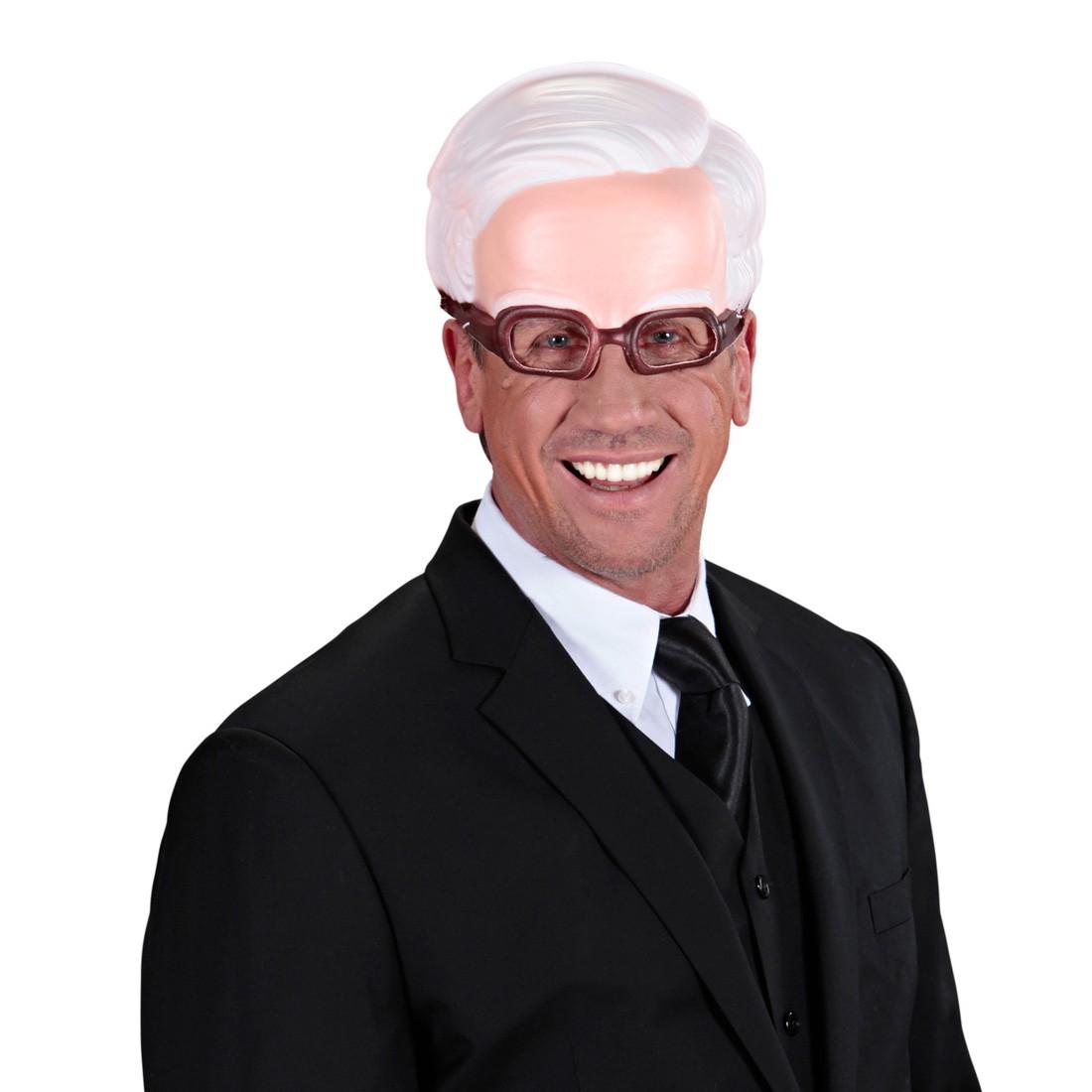 kinnlose maske opa mit brille alter mann halbmaske greis faschingsmaske gro vater gesichtsmaske. Black Bedroom Furniture Sets. Home Design Ideas