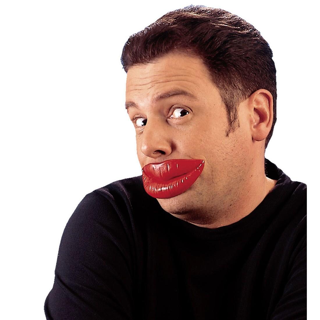 Rote Kuss Lippen JGA Kusslippen Knutschmund Scherzartikel, 4,49 €