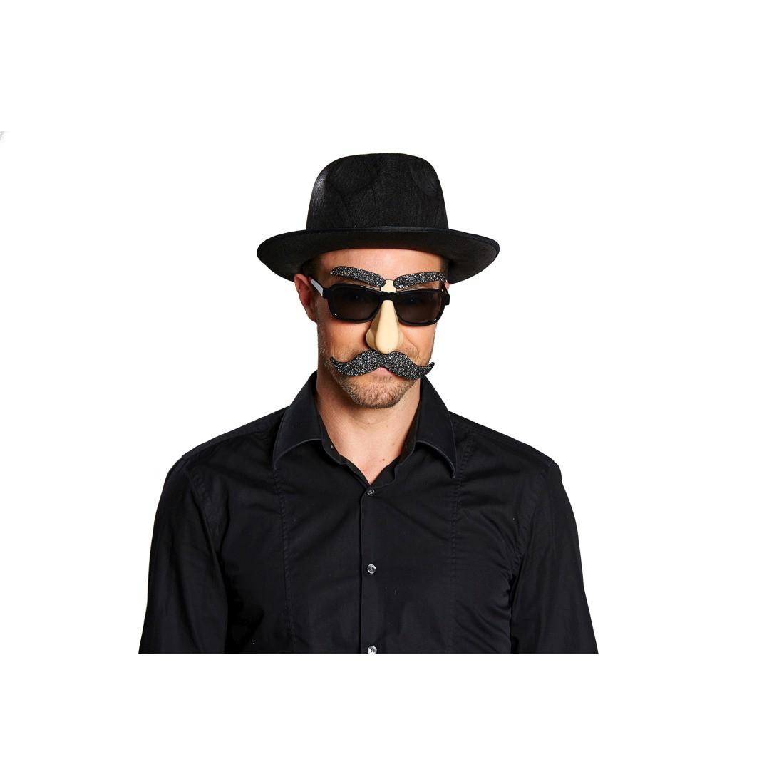 mann brille mit nase bart und augenbrauen maske gesicht lustige faschingsbrille italiener. Black Bedroom Furniture Sets. Home Design Ideas