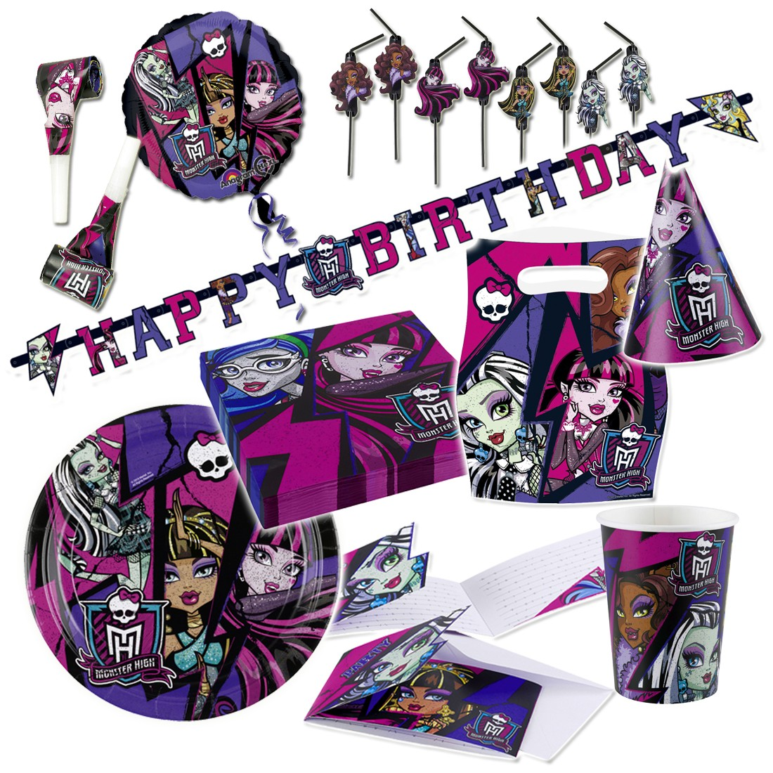 Monster high 2 deko set kindergeburtstag partydeko 1 99 for Kindergeburtstag deko set