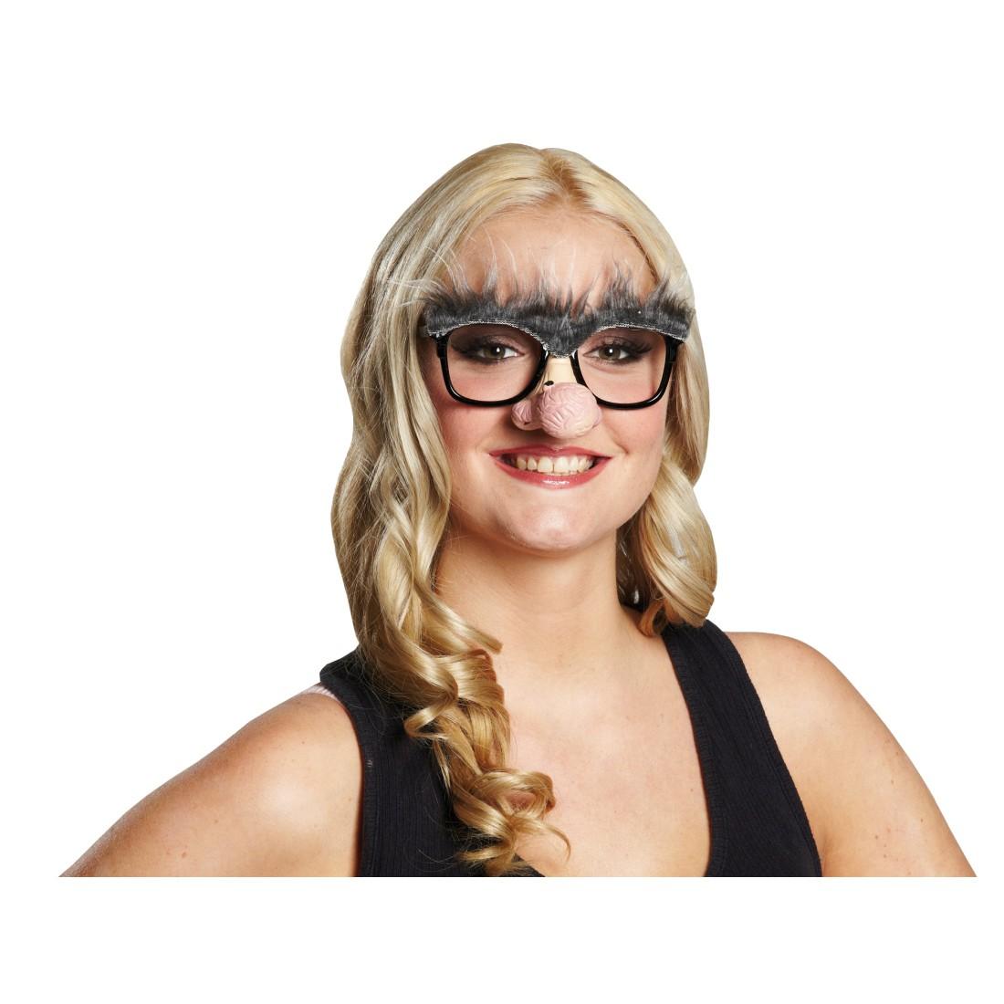 nasenbrille mit augenbrauen opa brille mit nase lustige. Black Bedroom Furniture Sets. Home Design Ideas