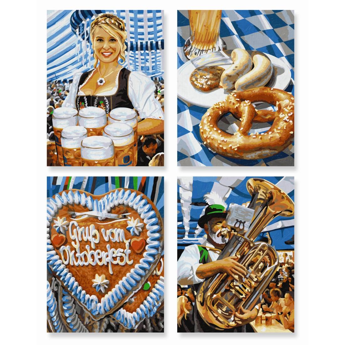 Oktoberfest Schipper Malen nach Zahlen Quattro Vorlage Malvorlage ...