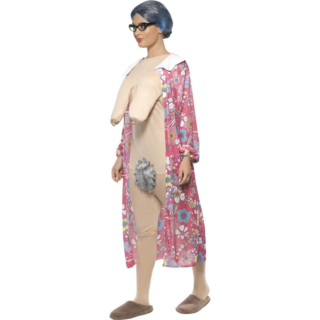 oma kost m alte frau mehrfarbig m 40 42 gro mutter kost m oma verkleidung nacktkost m. Black Bedroom Furniture Sets. Home Design Ideas