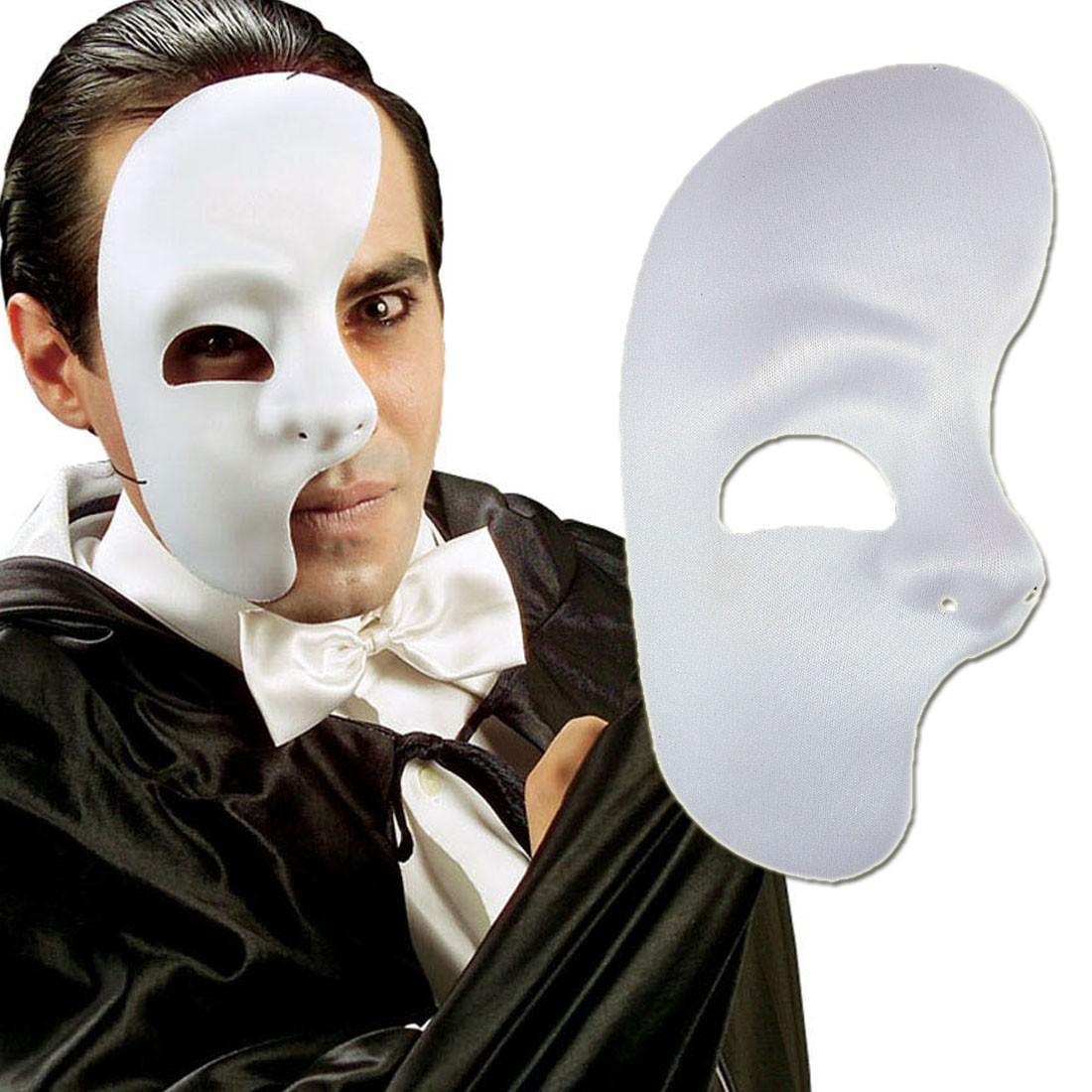 phantommaske halbes gesicht maske wei phantom der oper halbmaske eine gesichtsh lfte. Black Bedroom Furniture Sets. Home Design Ideas