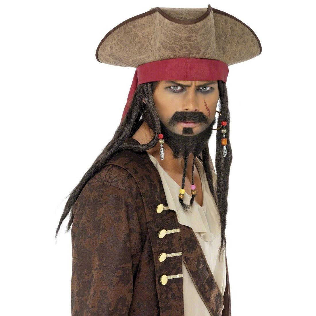 Piratenhut Schwarz Seerauber Pirat Dreispitz Hut Kappe Karneval
