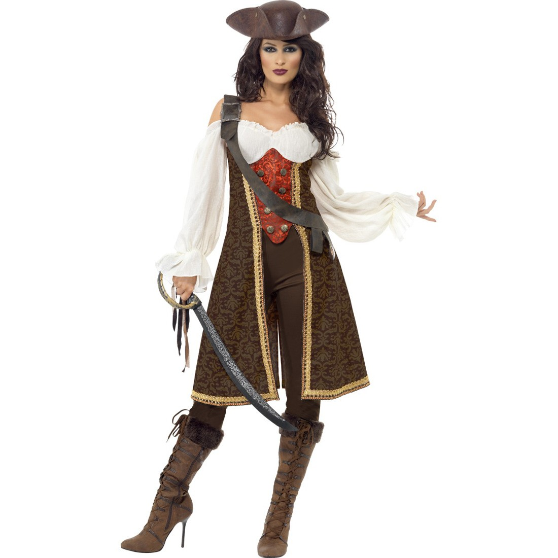piratin kost m piratenbraut piratenkost m damen. Black Bedroom Furniture Sets. Home Design Ideas