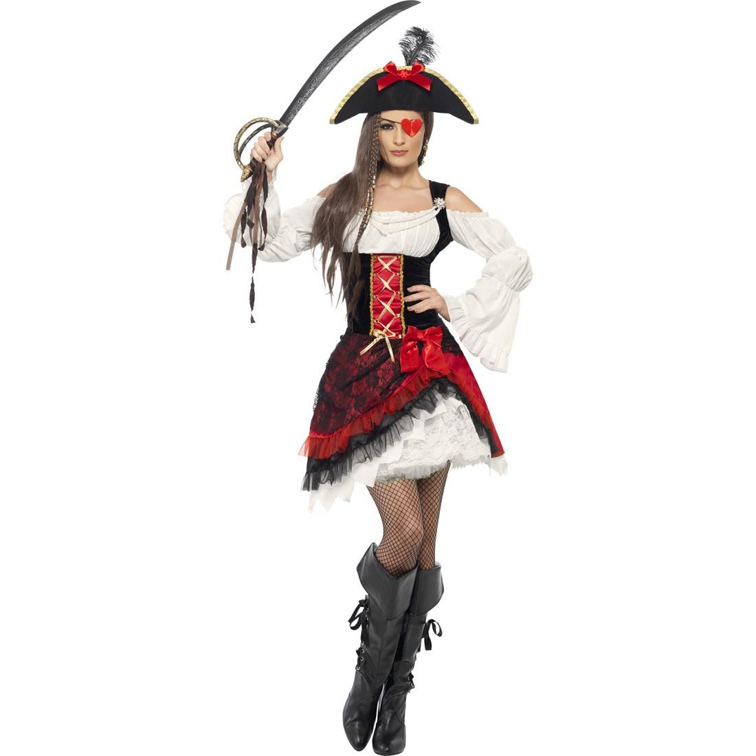 Piratin Kostum Piratenkostum Damen Piratinnenkostum Piratenkleid