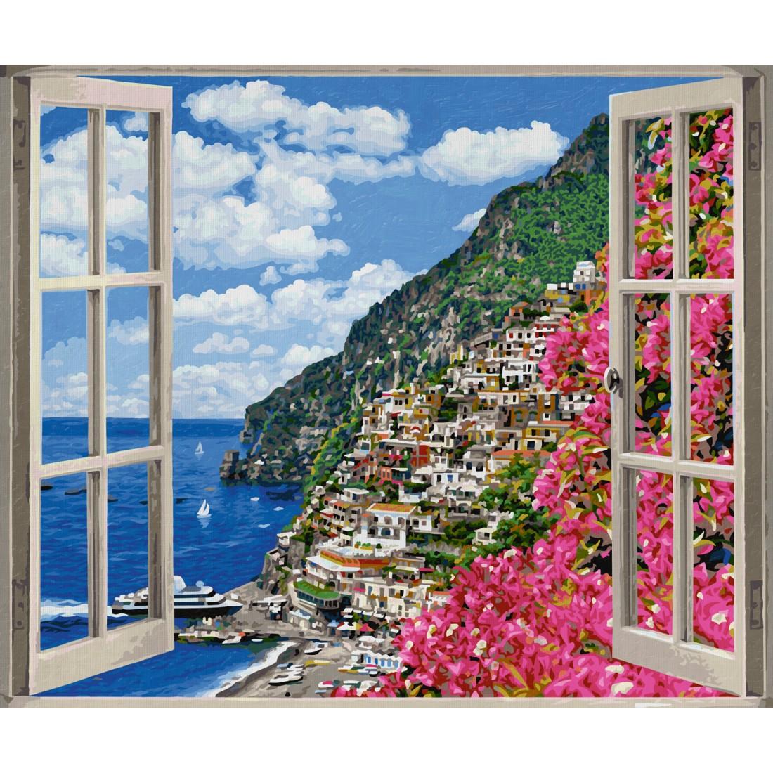 Positano an der Amalfiküste Schipper Malen nach Zahlen 50x60 cm ...