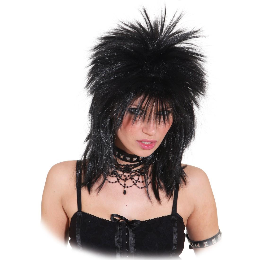 Punk Rock Perucke Rocklady Schwarz Damen 15 99