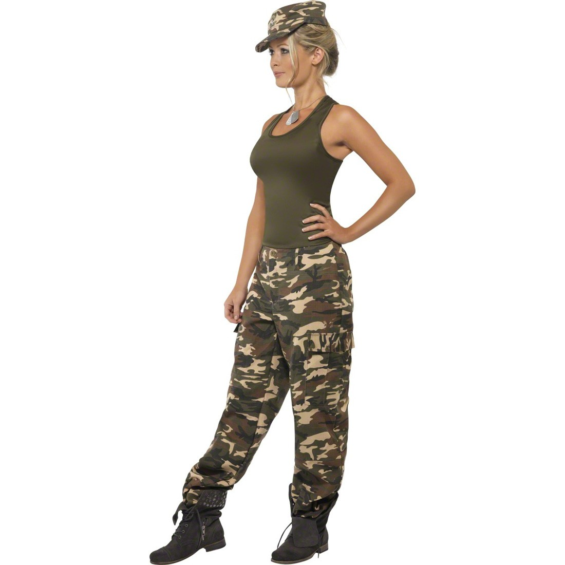 soldatin kost m armee verkleidung khaki s 36 38 army girl kost m camouflage outfit sexy kost m. Black Bedroom Furniture Sets. Home Design Ideas
