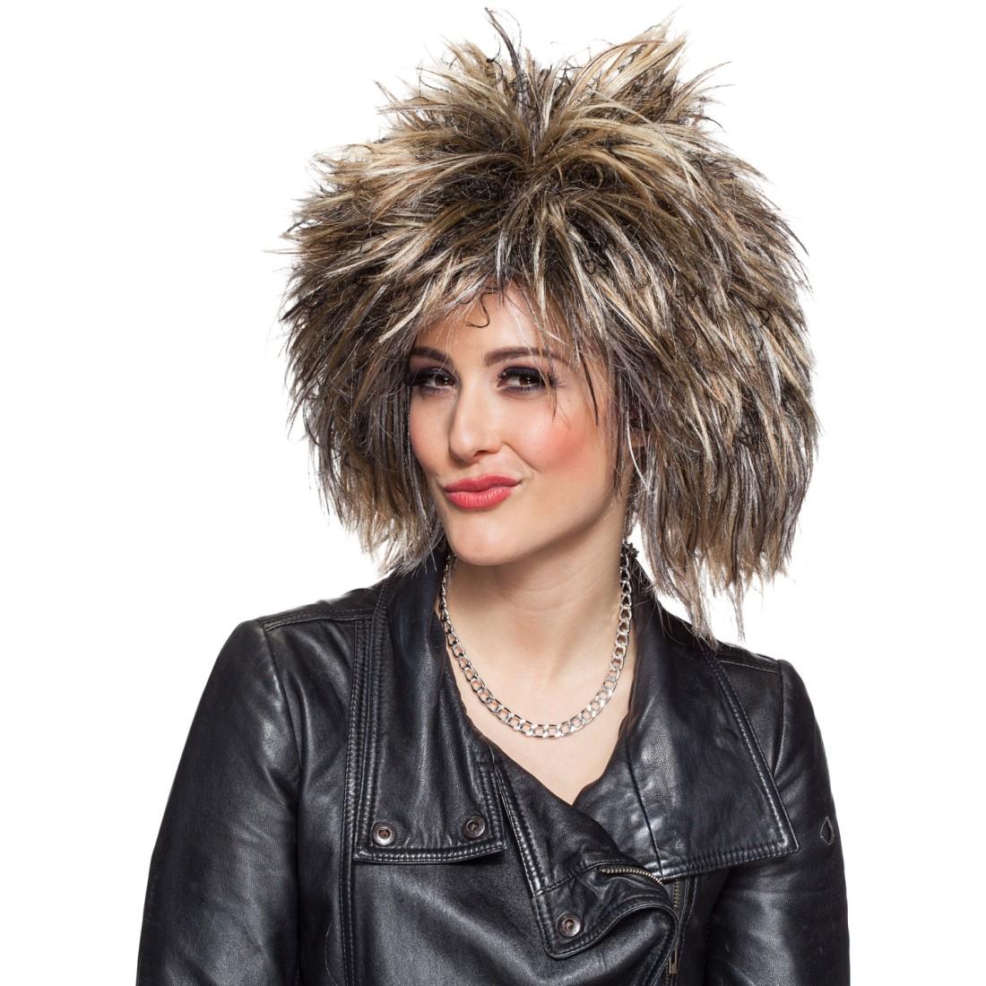 Star Perucke Tina Rockdiva Rockstar Fasching 16 99