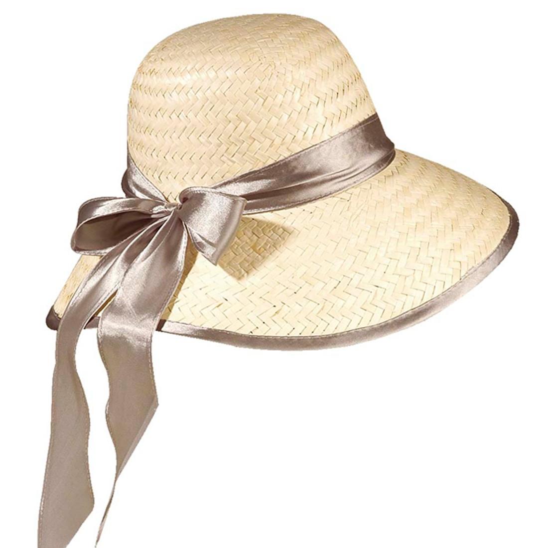 Eleganter Damenhut mit Chiffonband
