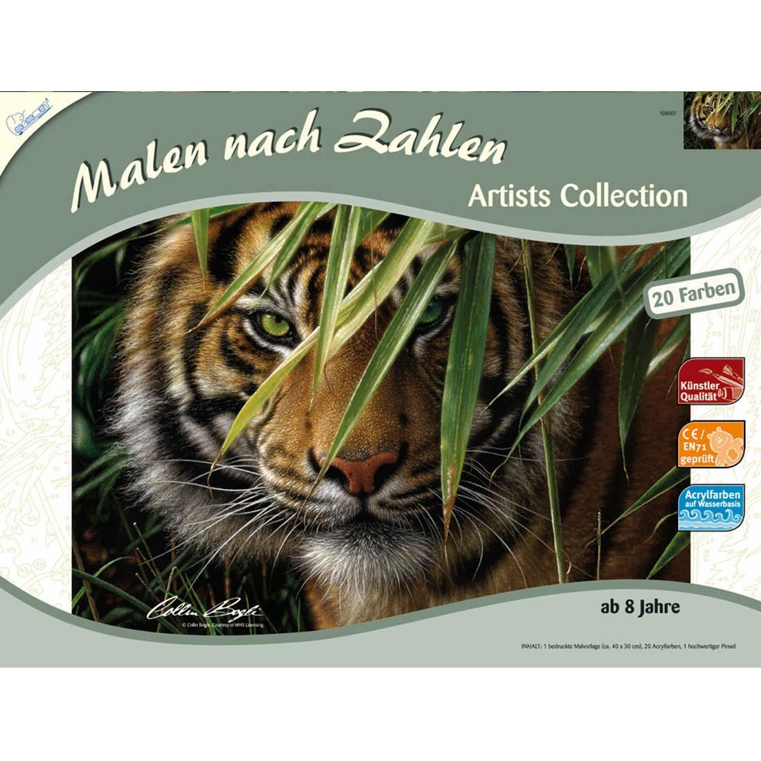 Tiger Malen nach Zahlen Malvorlage Mammut, 14,99 €