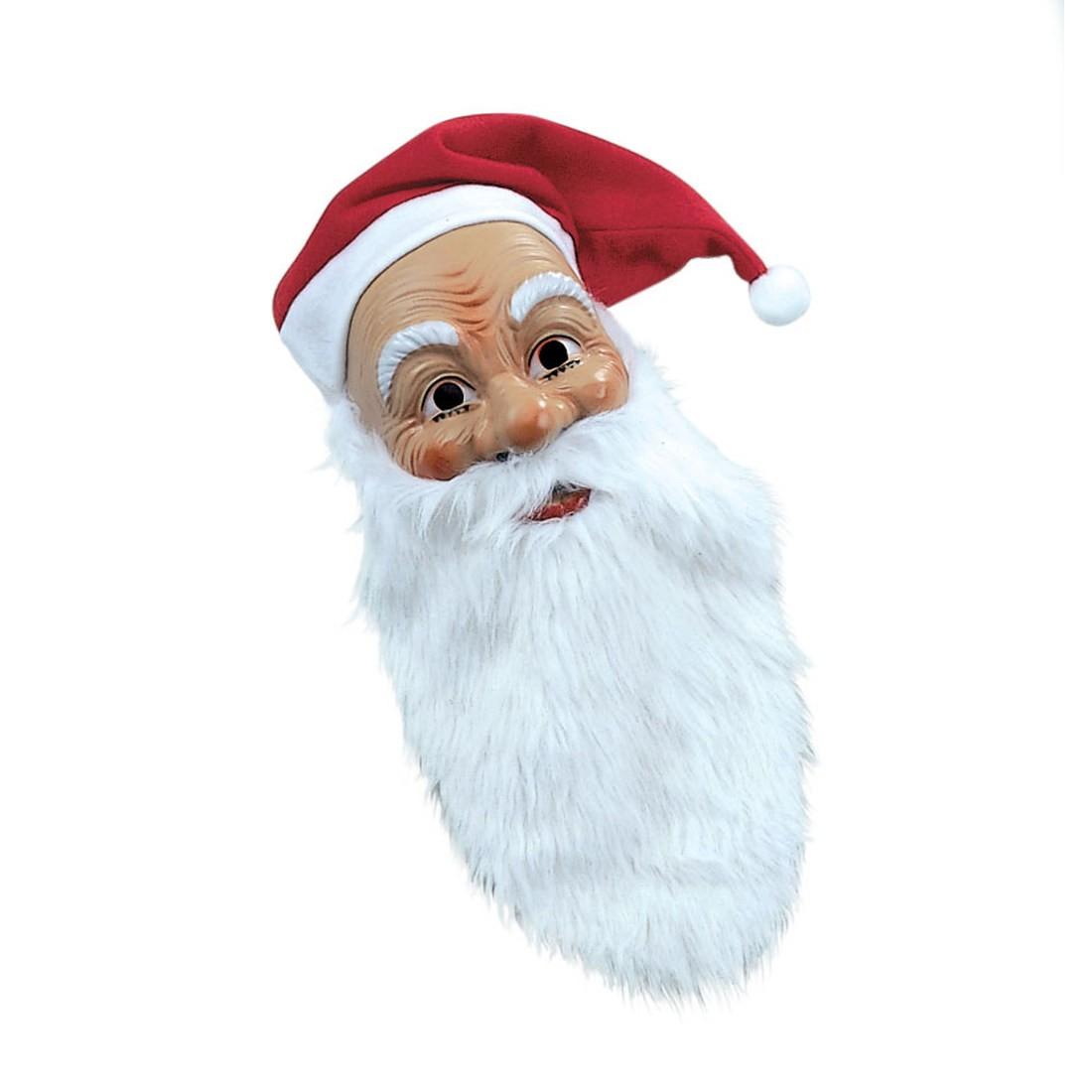 weihnachtsmann maske hautfarbend mit rauschebart und m tze. Black Bedroom Furniture Sets. Home Design Ideas