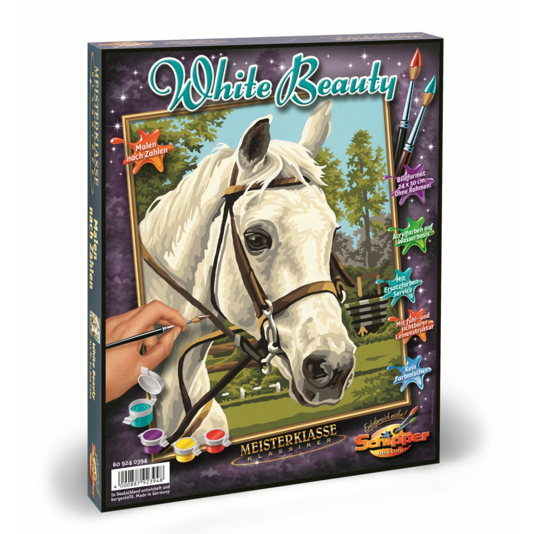 White Beauty Pferd - Malen nach Zahlen Malvorlage, 18,49 €