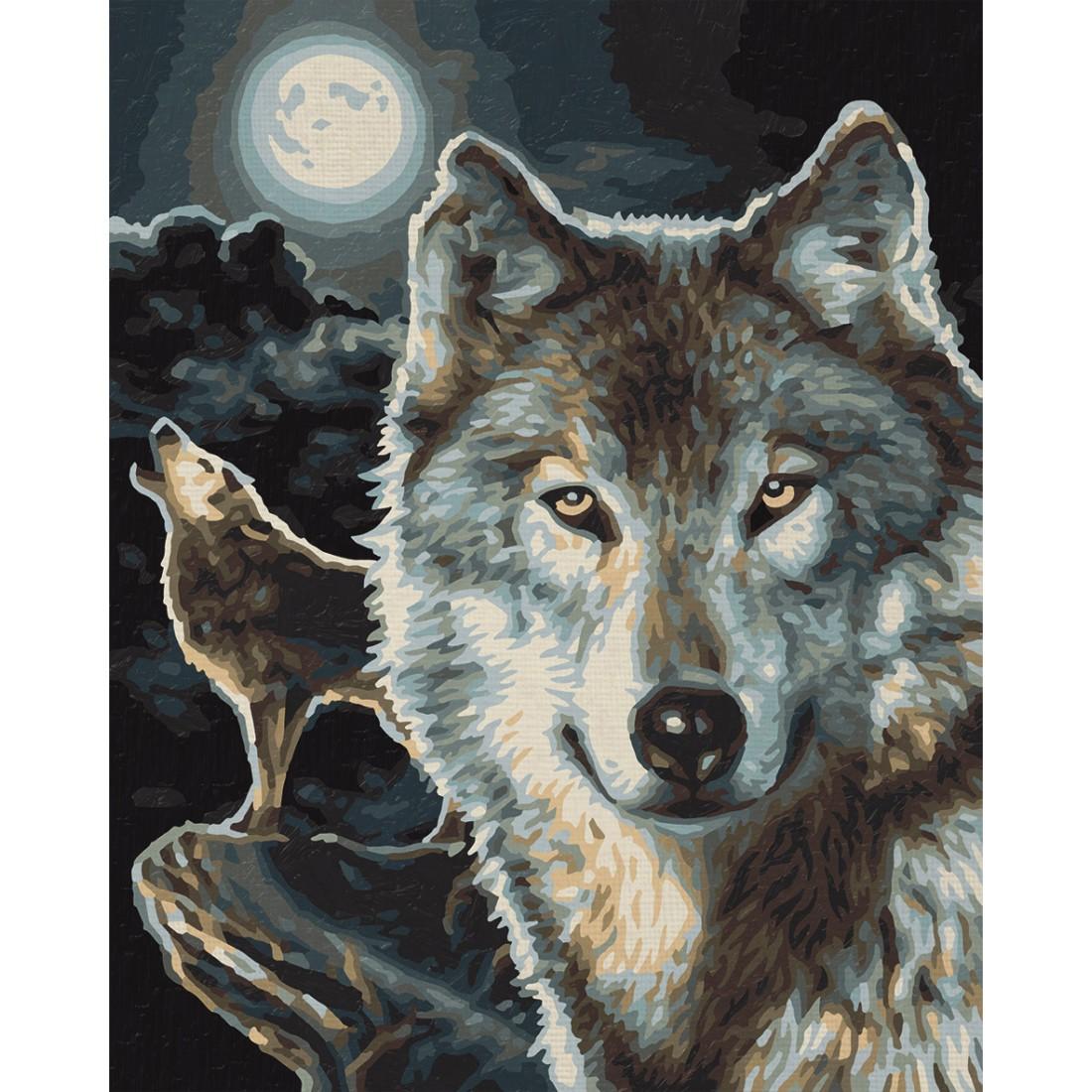 wölfe malen nach zahlen schipper 24 x 30 cm tiere vorlagen